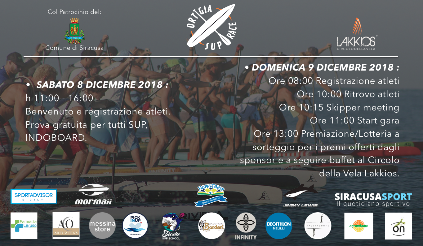 Tutto pronto per l'Ortigia Sup Race!